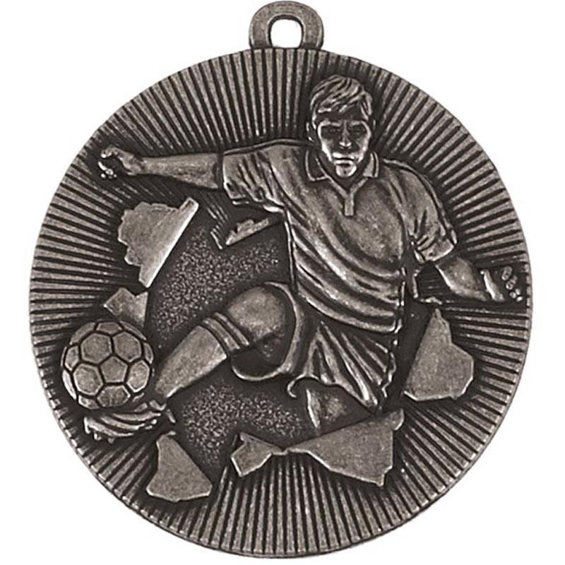 50mm SIlver Soccer Kick Football Xplode Medal