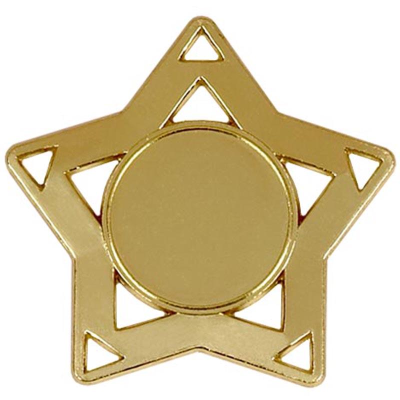 60mm Gold Mini Star Medal