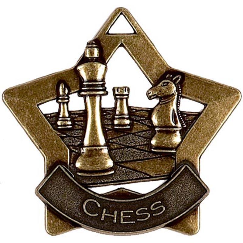 60mm Bronze Mini Star Chess Medal