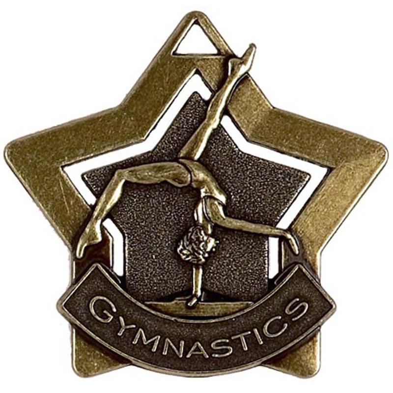 60mm Bronze Mini Star Gymnastics Medal