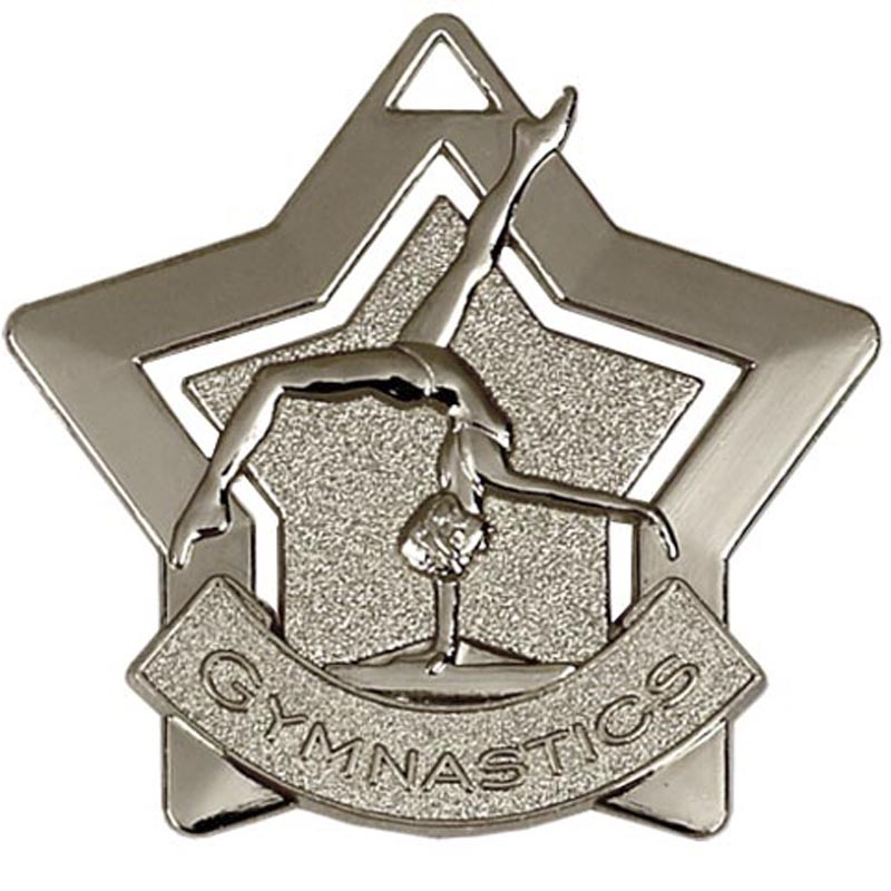 60mm Silver Mini Star Gymnastics Medal