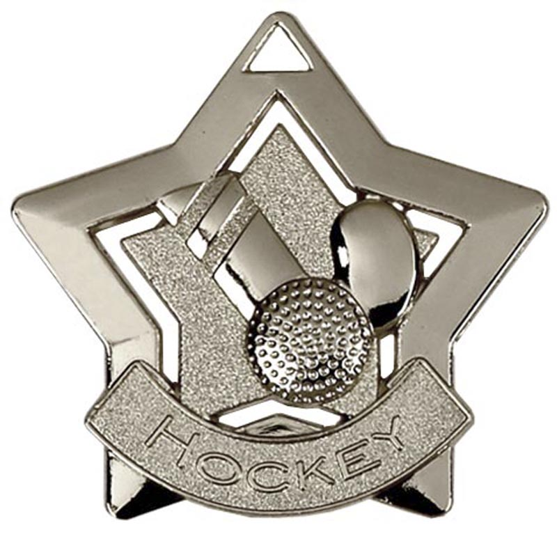 60mm Silver Mini Star Hockey Medal