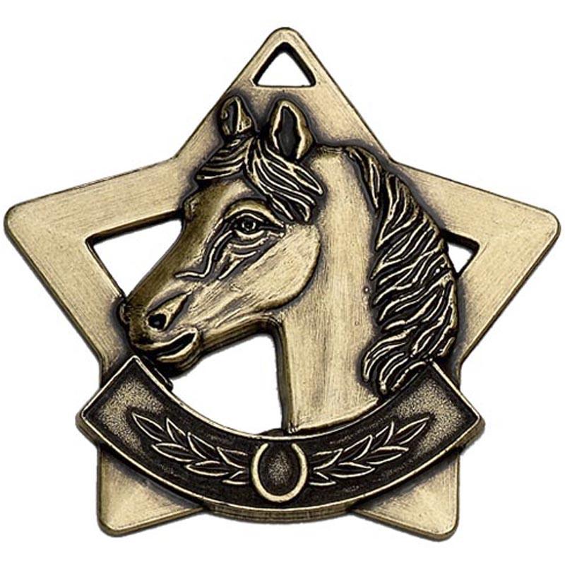 60mm Bronze Mini Star Equestrian Medal