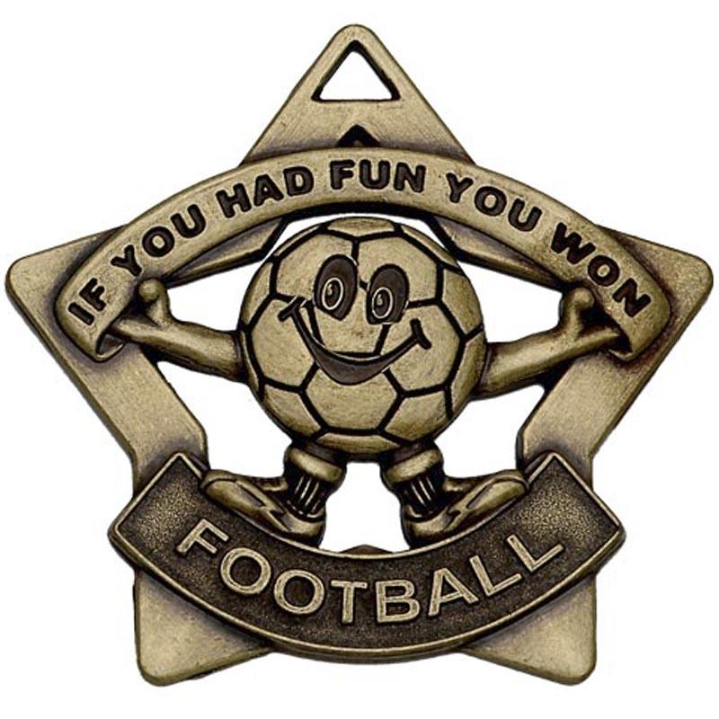 60mm Mini Star Football Bronze Medal