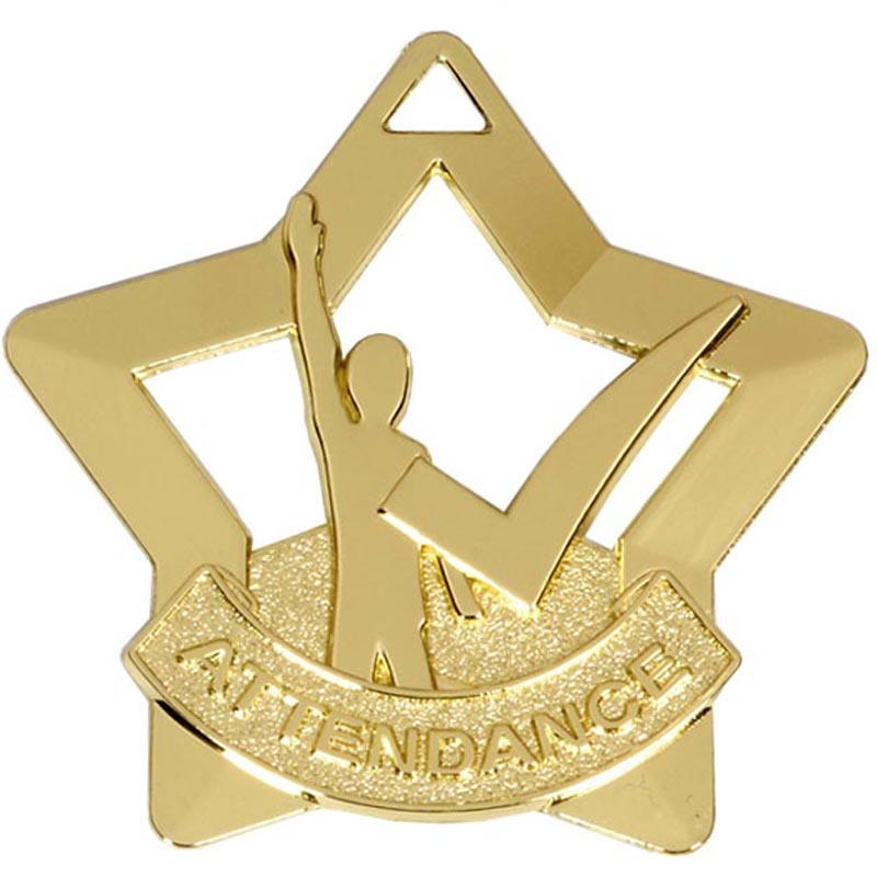 60mm Mini Star Attendance Medal