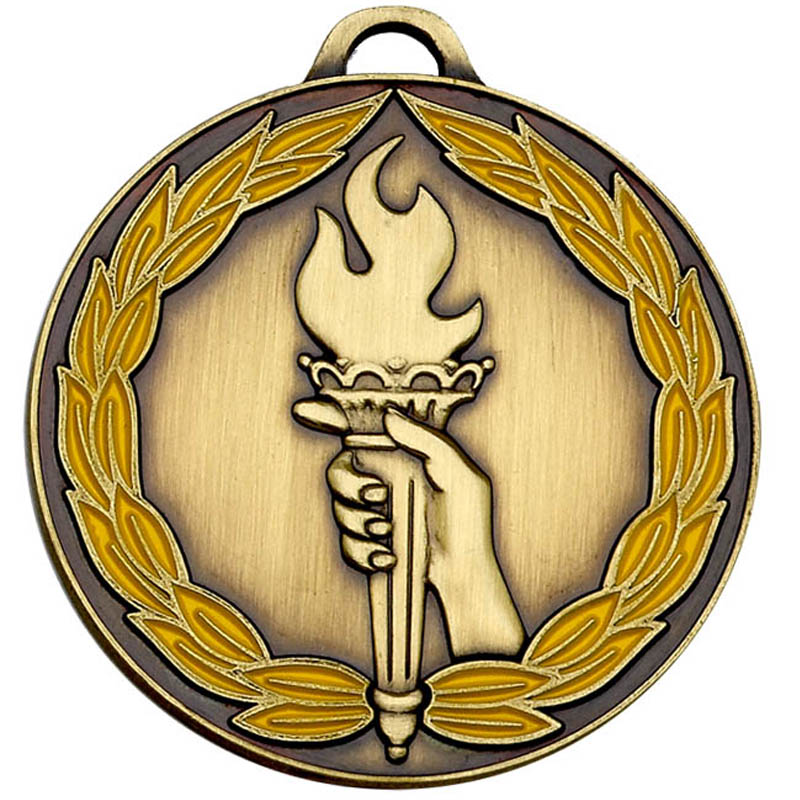 50mm Classic Torch Bronze Medal