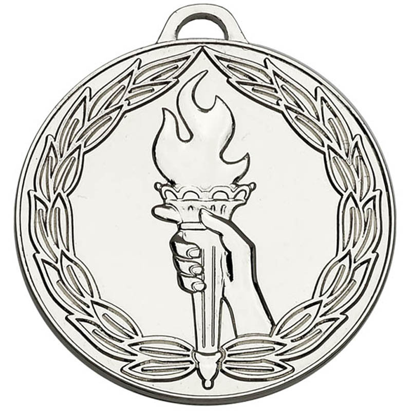 50mm Classic Torch Silver Medal