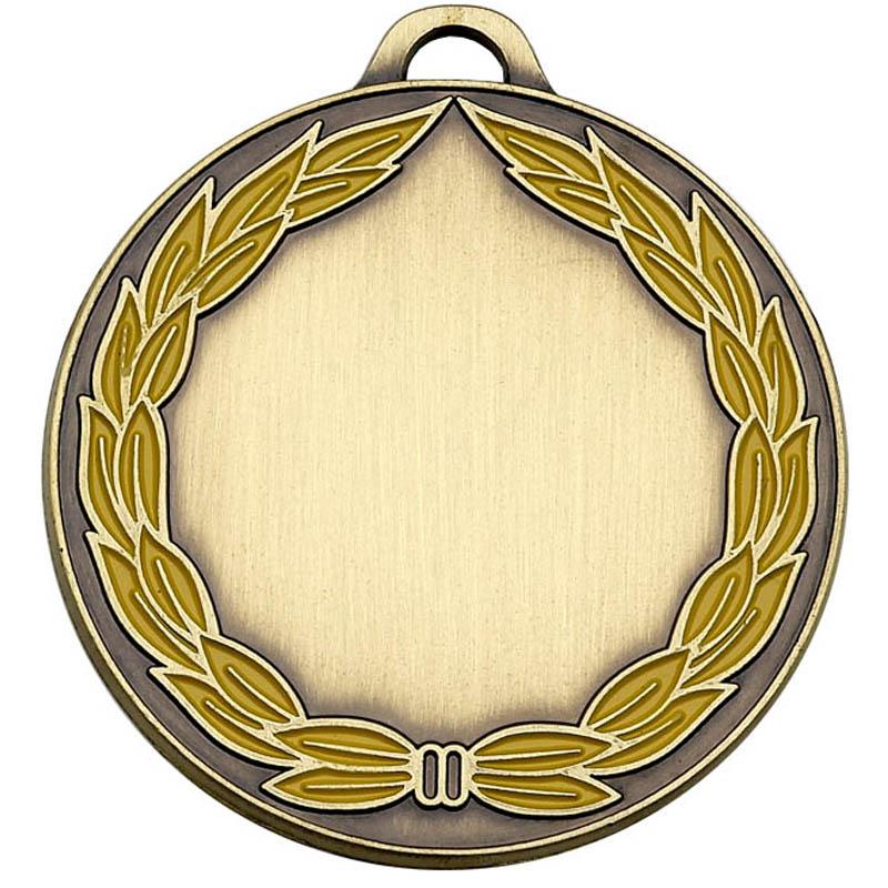50mm Classic Bronze Wreath Medal