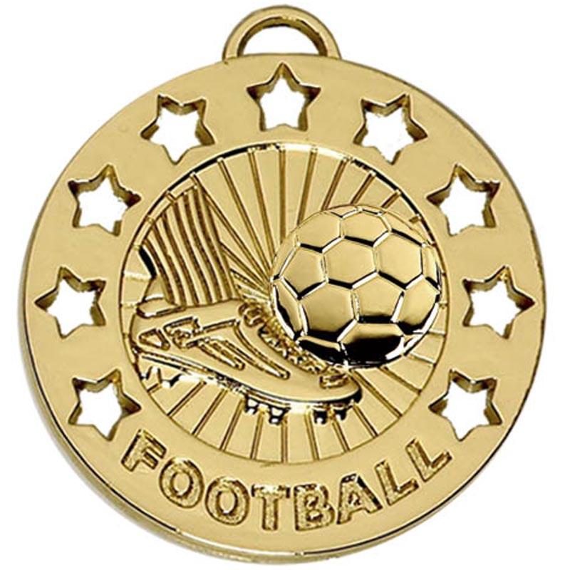 40mm Spectrum Football Gold Medal