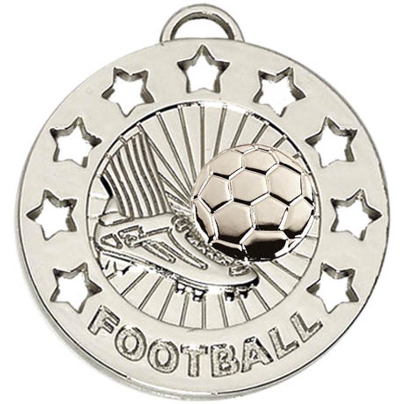 40mm Silver Spectrum Football Medal