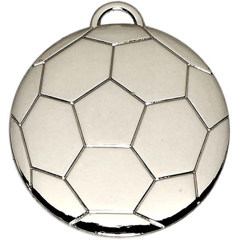 40mm Silver Football Medal
