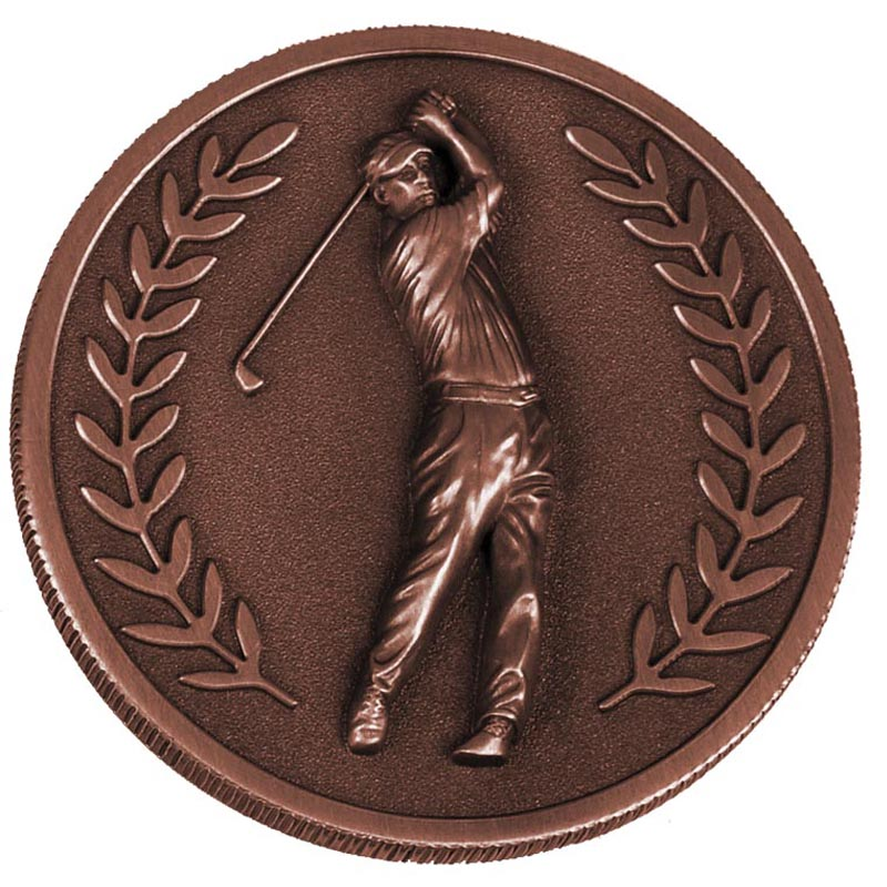 Bronze Laurel Wreath Golf Prestige Medal