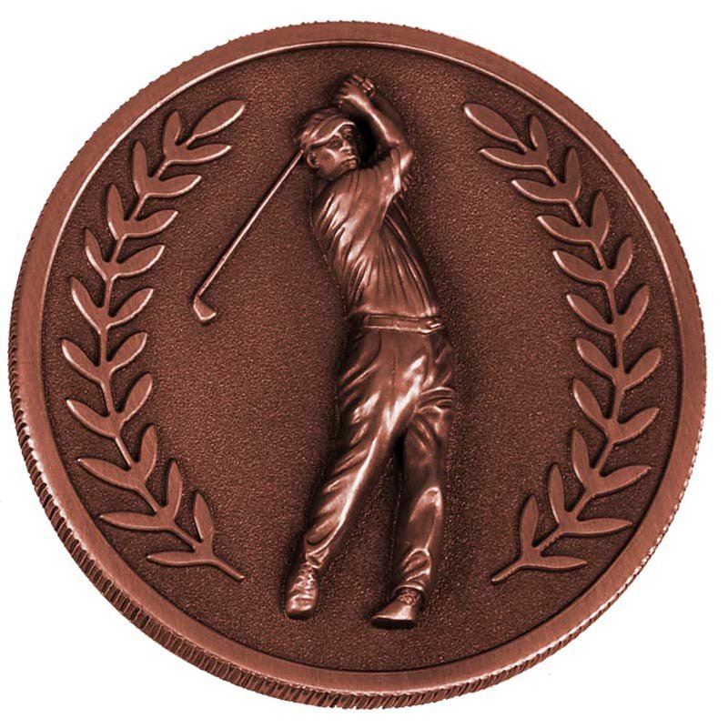 60mm Bronze Laurel Wreath Golf Prestige Medal