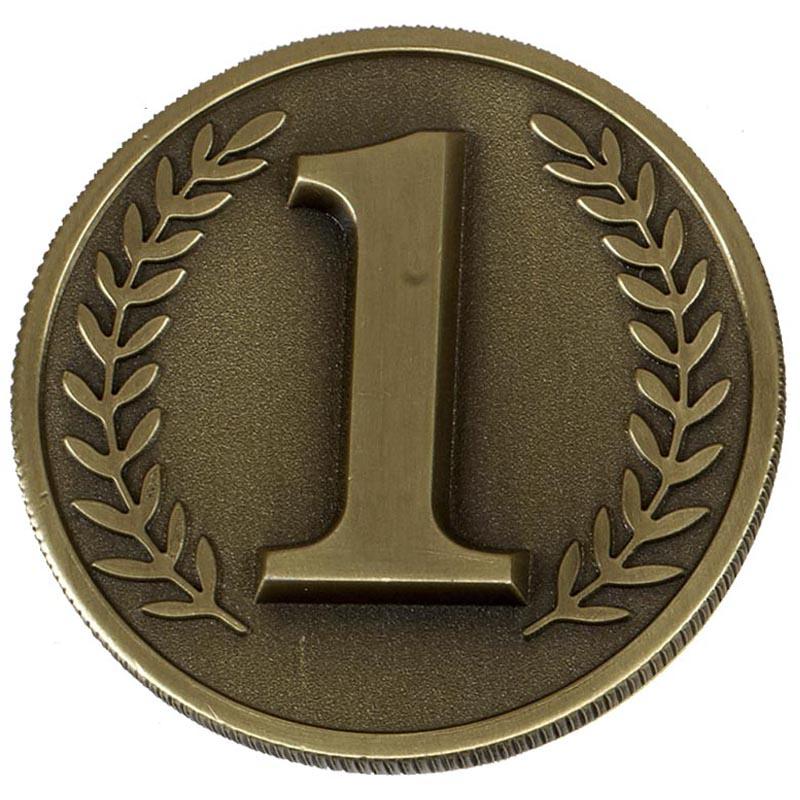 Gold Number 1 Wreath Prestige Medal