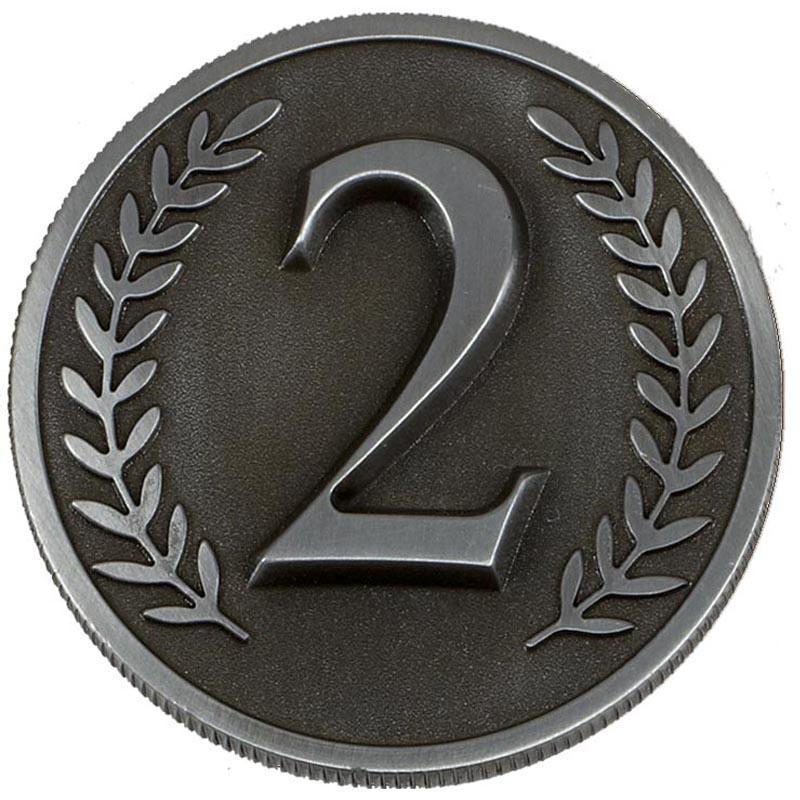 Silver Number 2 Wreath Prestige Medal