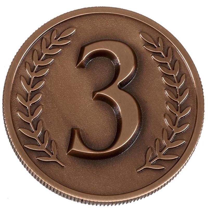 60mm Bronze Number 3 Wreath Prestige Medal