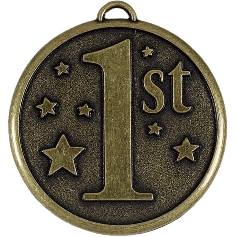 50mm Gold 1st Place Stars Elation Medal
