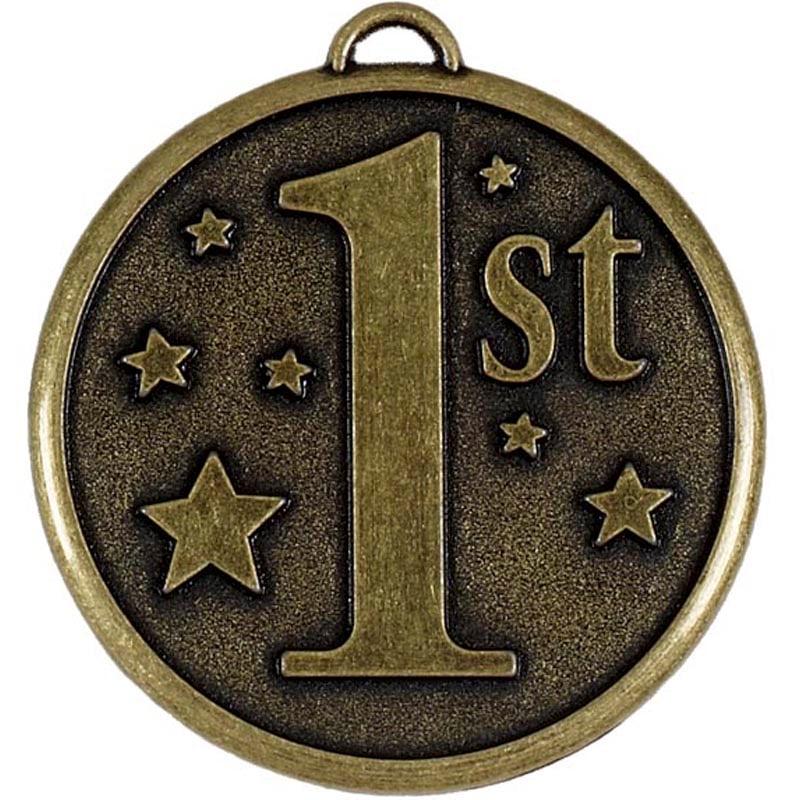 50mm Gold 1st Place Stars Elation Medal