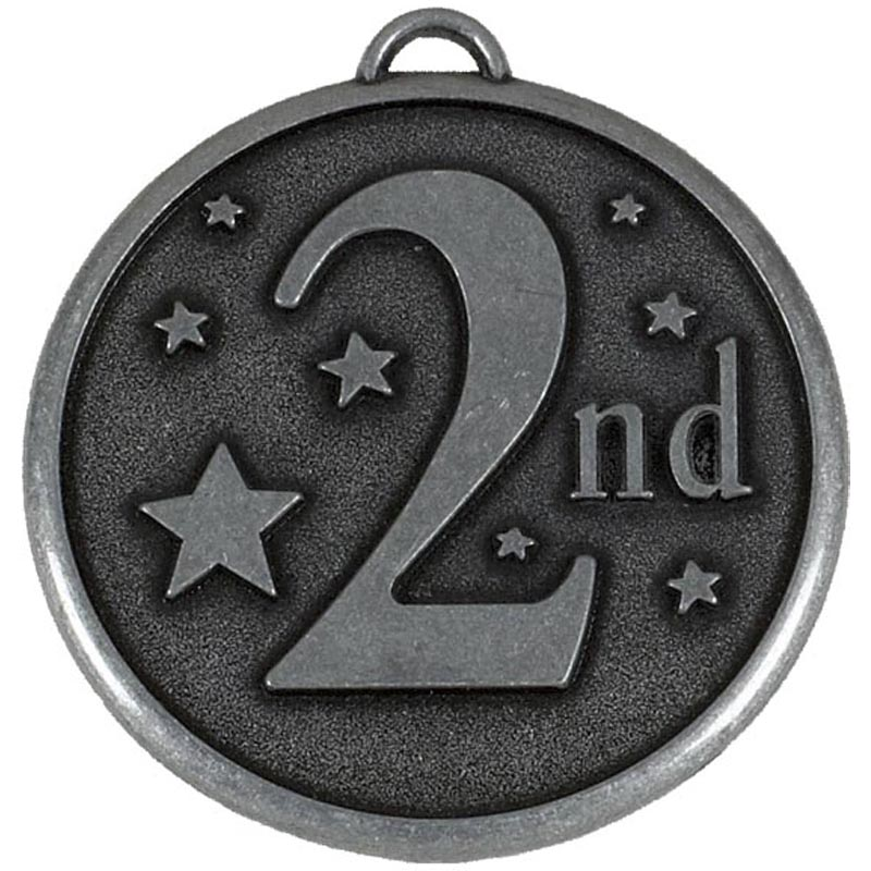 50mm Silver 2nd Place Stars Elation Medal