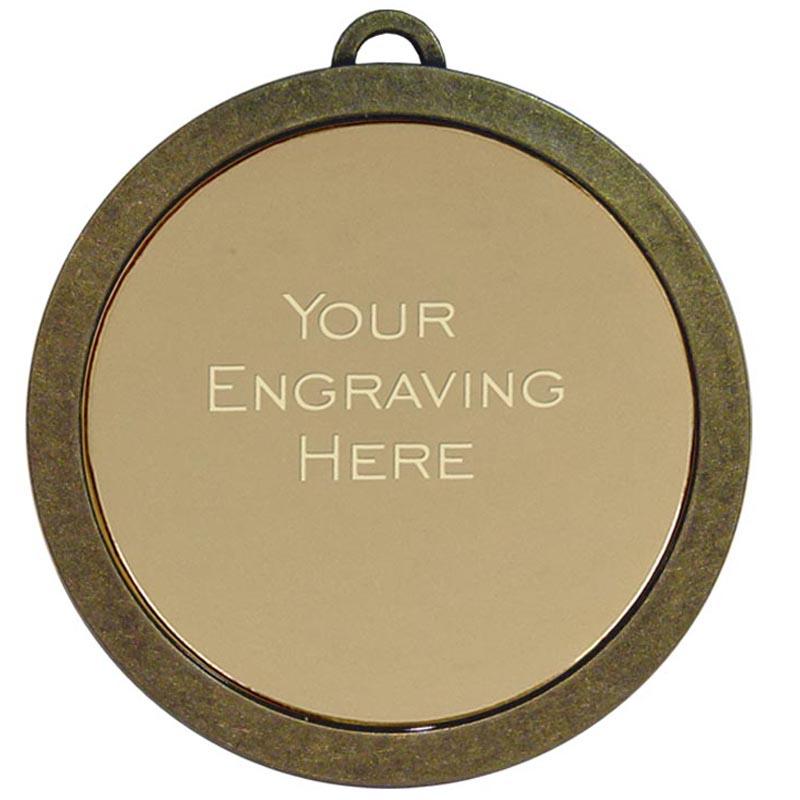 60mm Bronze Engraving Centre Prestige Medal