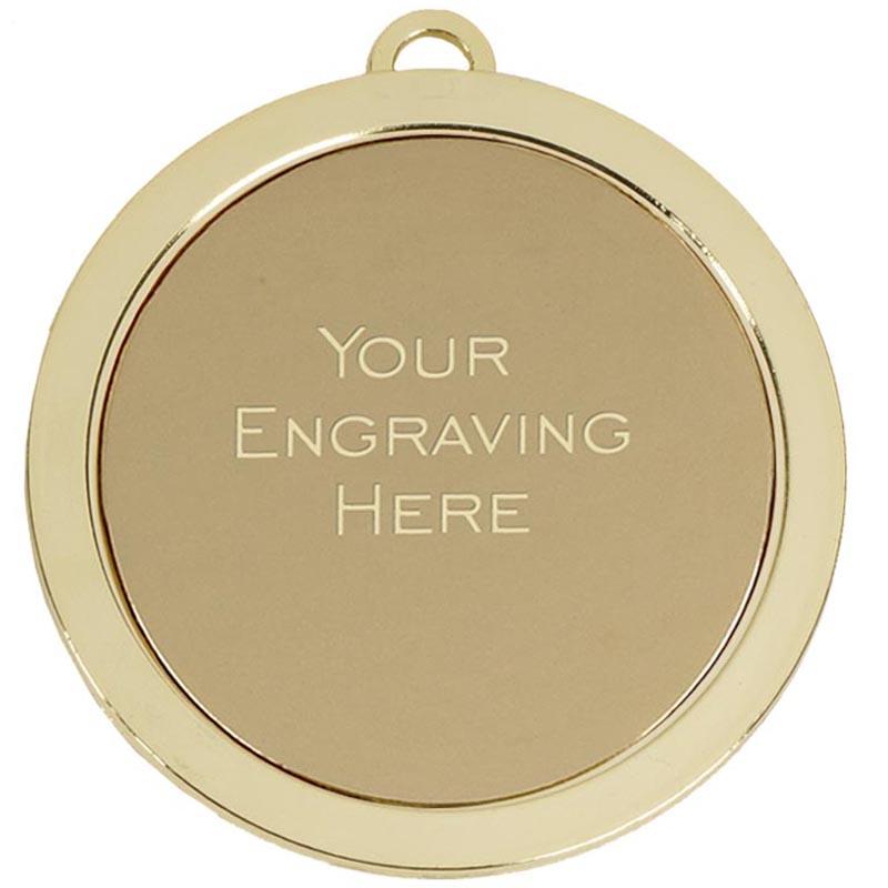 60mm Gold Engraving Centre Prestige Medal