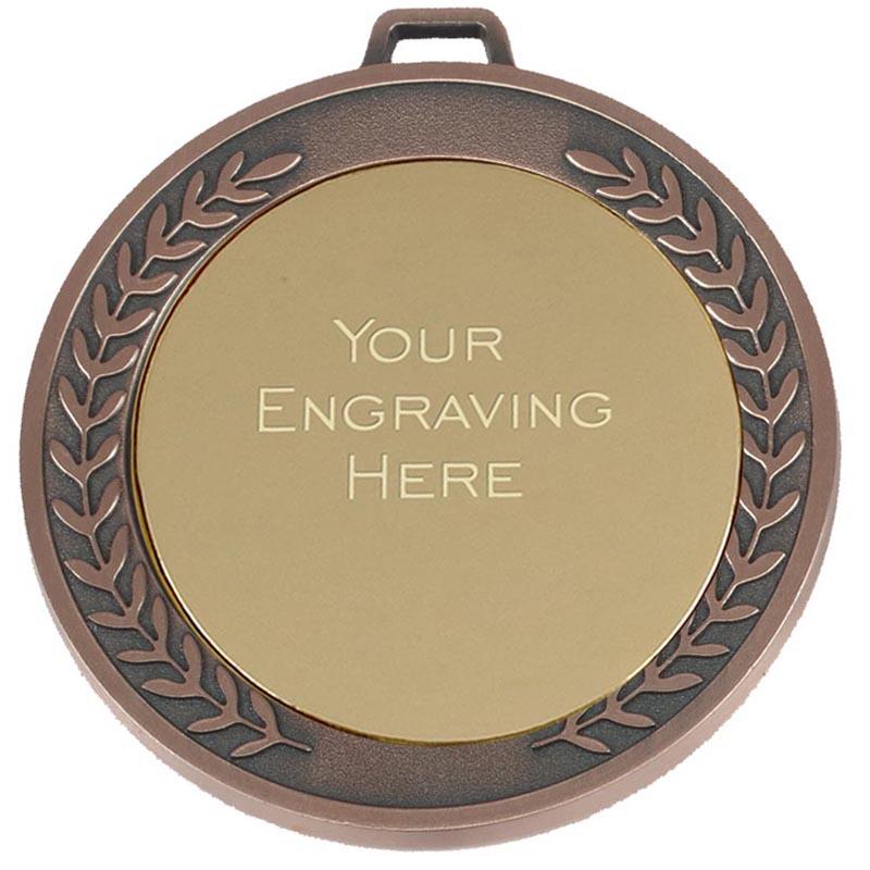 70mm Bronze Engraving Centre Wreath Prestige Medal