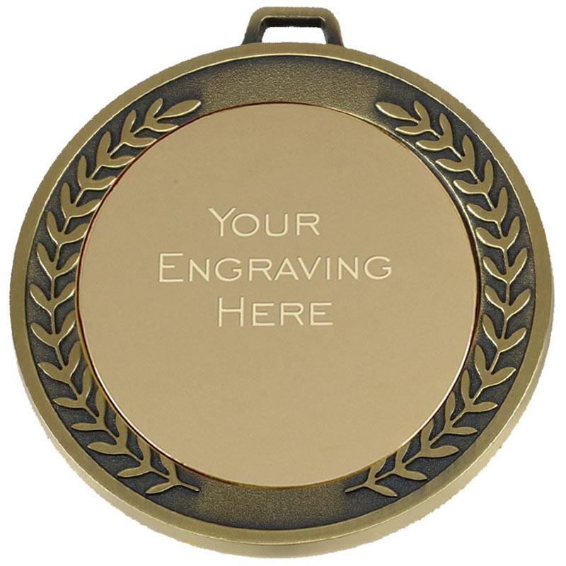 Gold Engraving Centre Wreath Prestige Medal