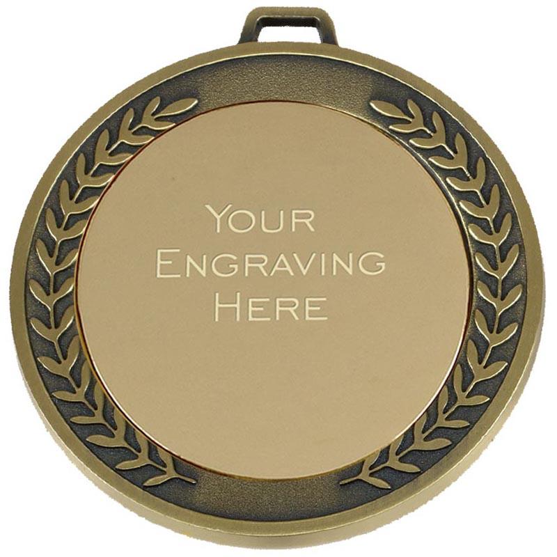Gold Engraving Centre Wreath Prestige Medal