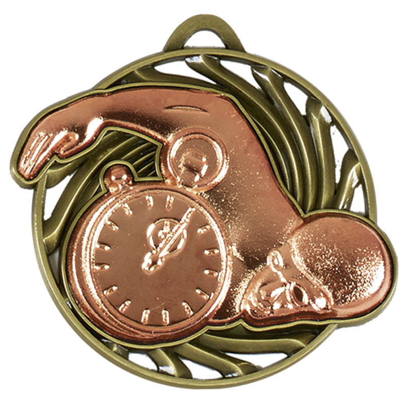 Bronze Front Crawl Swimmer Swimming Vortex Medal