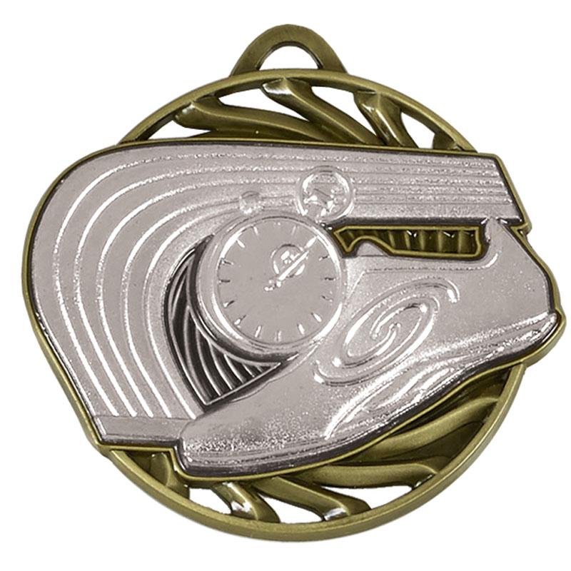 50mm Silver Trainer & Track Athletics Vortex Medal
