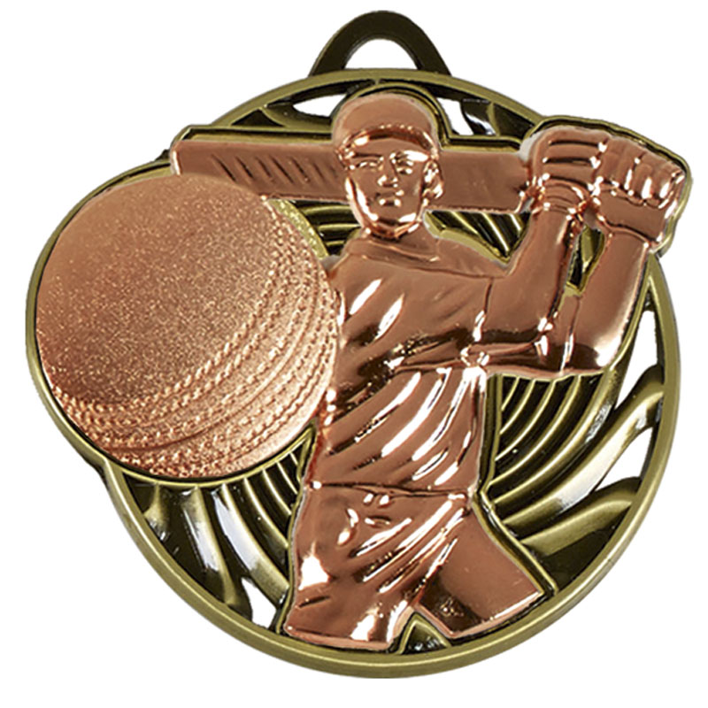 50mm Bronze Swing Cricket Vortex Medal