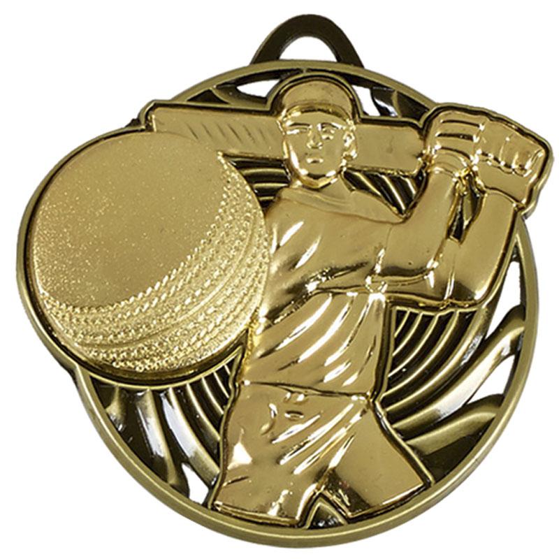 50mm Gold Swing Cricket Vortex Medal