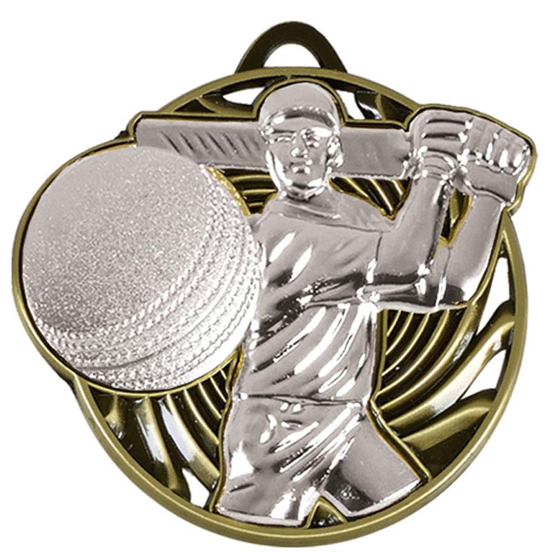 Silver Swing Cricket Vortex Medal