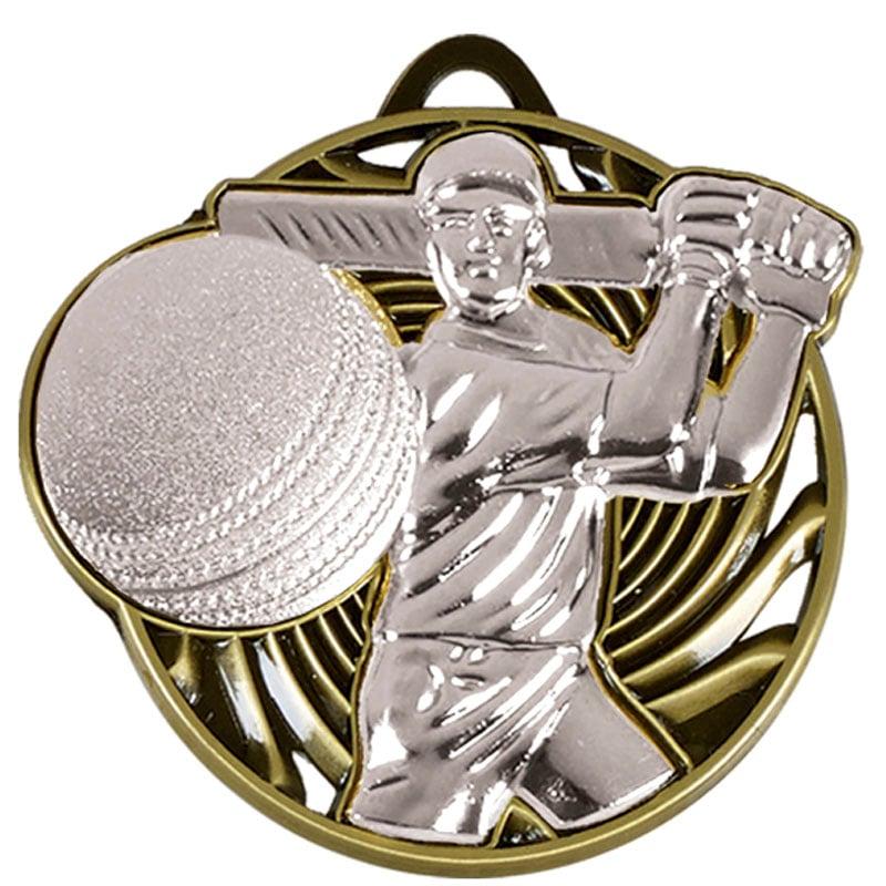 50mm Silver Swing Cricket Vortex Medal