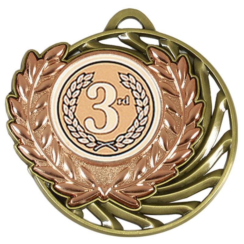 50mm Bronze Centre holder Wreath Vortex Medal