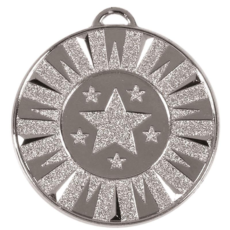 50mm Silver Star Target Medal