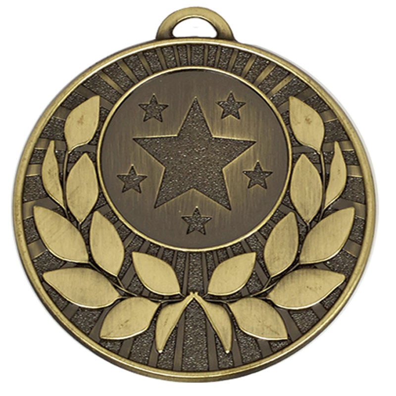 50mm Bronze Star with Gold Wreath Target Medal