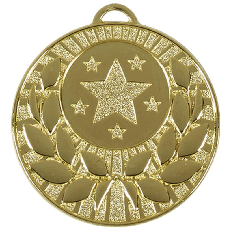50mm Gold Star Wreath Target Medal
