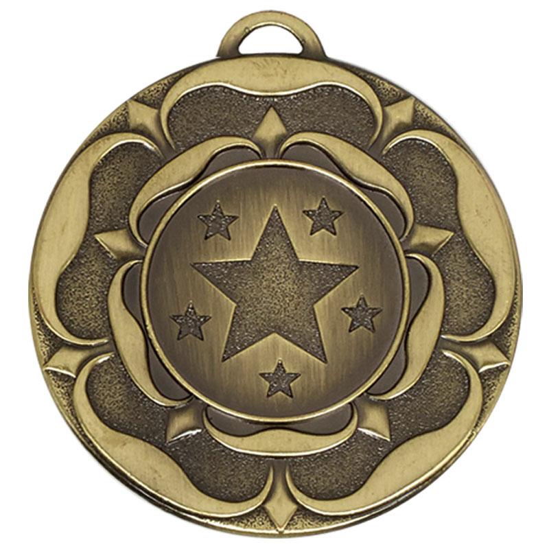 50mm Bronze Star Flower Target Medal
