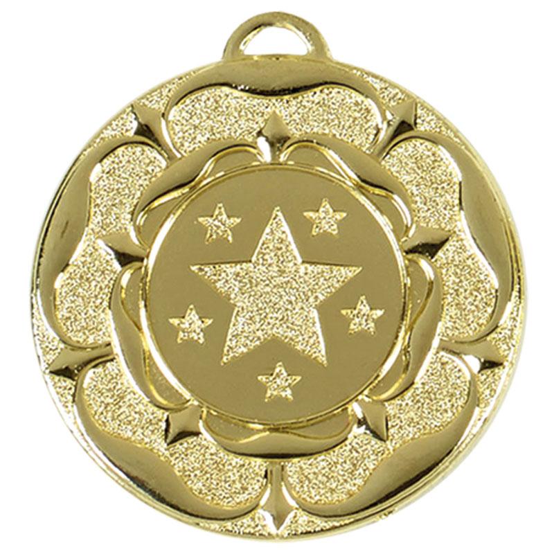 50mm Gold Stars Target Medal