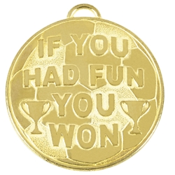 60mm Gold If you had fun you won Helix Medal