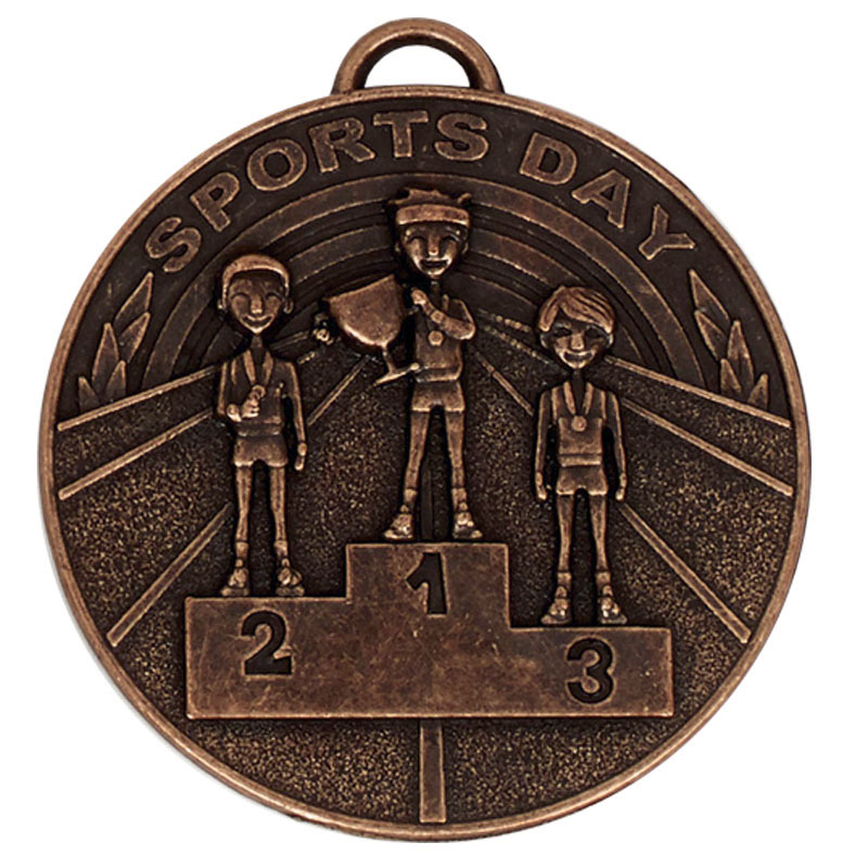 50mm Bronze Sports Day School Target Medal
