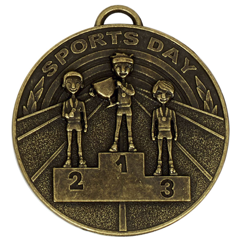 50mm Gold Sports Day School Target Medal