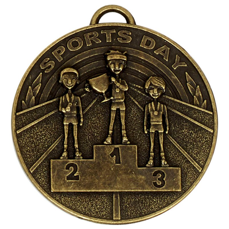 Gold Sports Day School Target Medal
