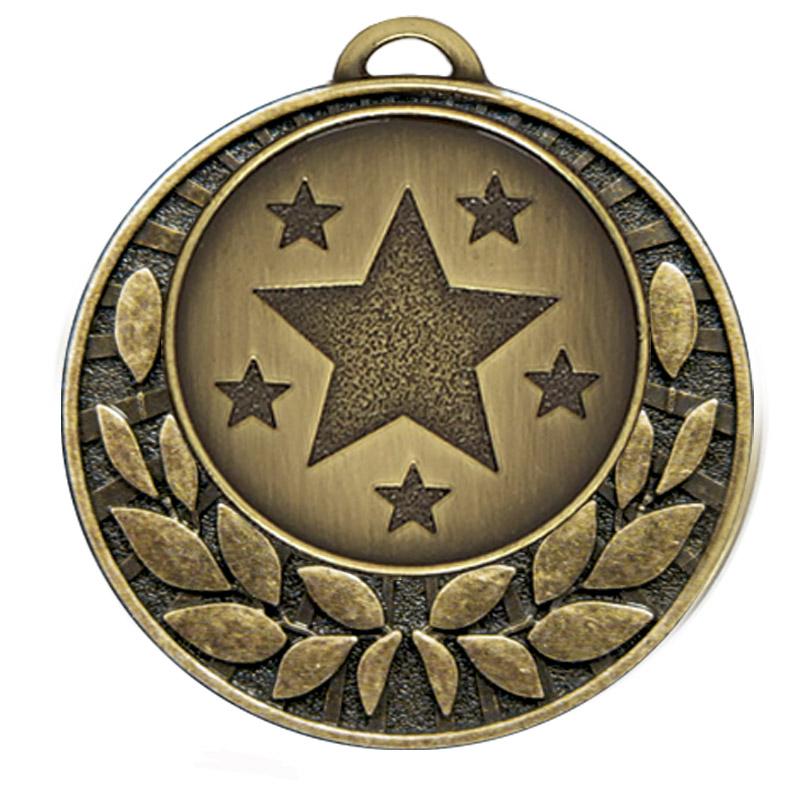 40mm Bronze Star Wreath Target Medal