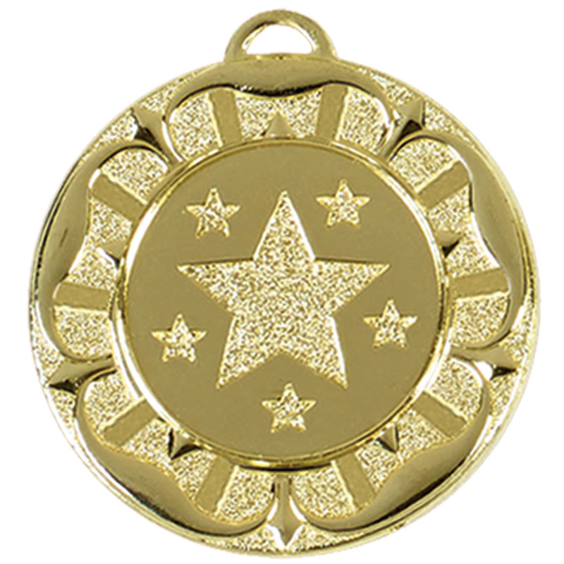 40mm Gold Star Wreath Target Medal