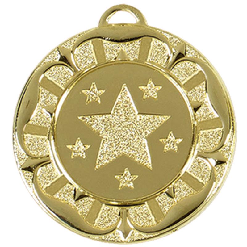 40mm Gold Star Wreath Target Medal