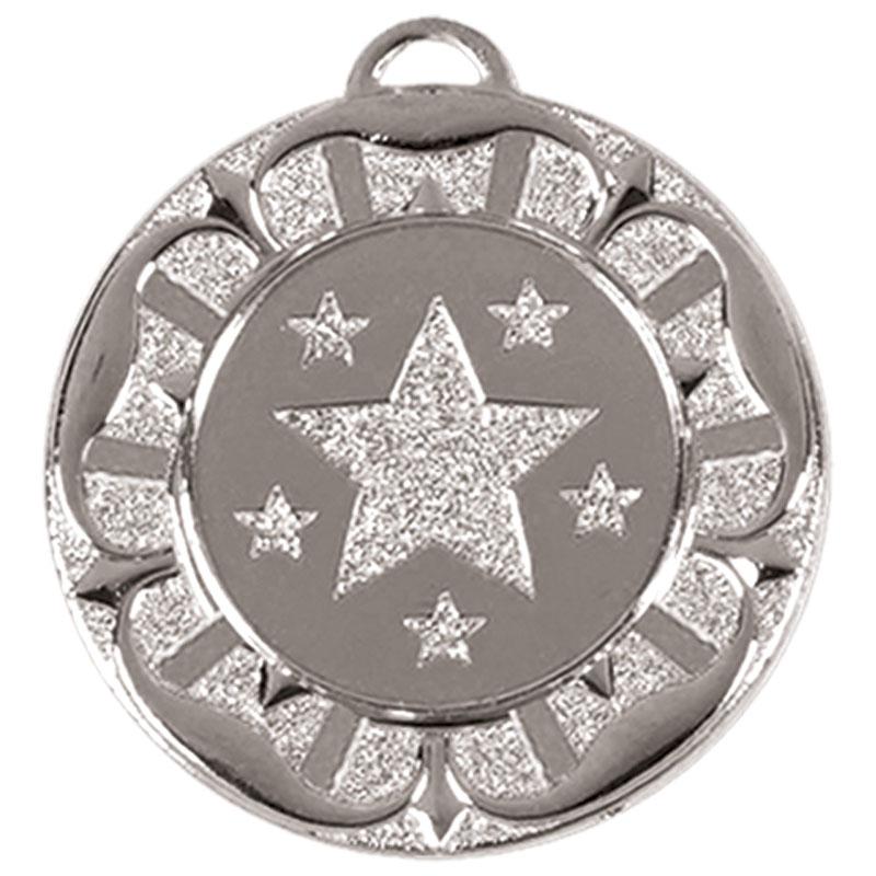 Silver Star Wreath Target Medal