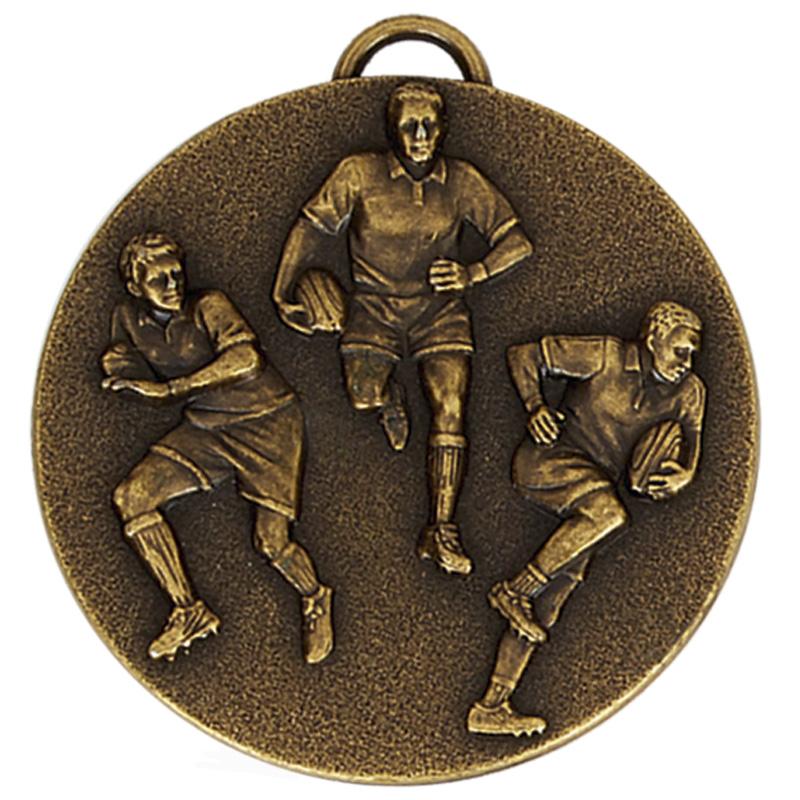 Antique Gold Team Rugby Target Medal