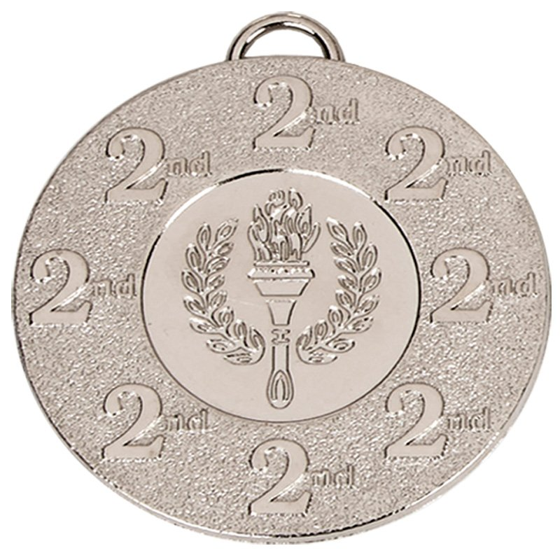 50mm Silver 2nd Place Torch Target Medal